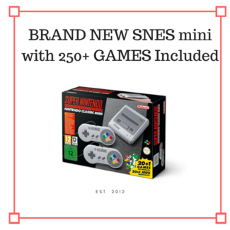 MODDED NINTENDO MINI SNES (Brand new) WITH 250+ GAMES