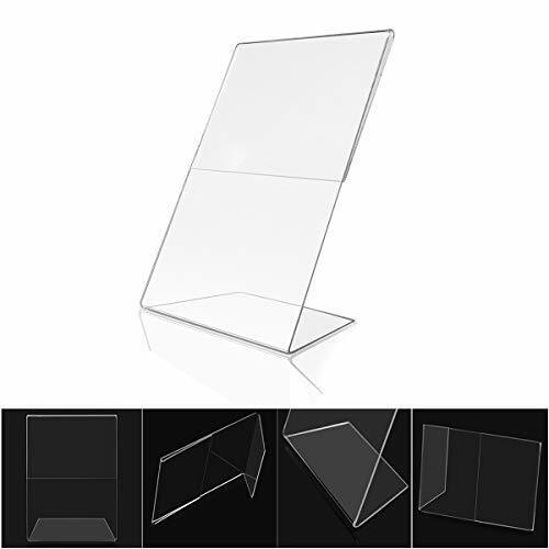 12 ct Acrylic 4x6 Sign Holders Picture Frames Bulk  Vertical Horizontal Slanted
