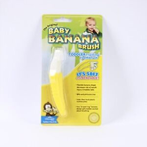 NEW-Baby-Banana-Bendable-Training-Toothbrush-Toddler-1-EA