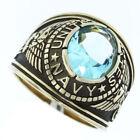 Aquamarine Gold Rings for Men
