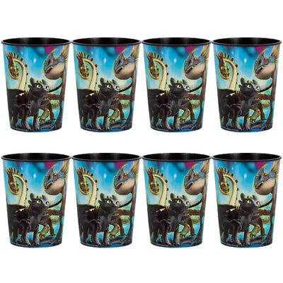 AGON 3 REUSABLE KEEPSAKE CUPS (8) ~ Birthday Party Supplies (Train Birthday Party Supplies)