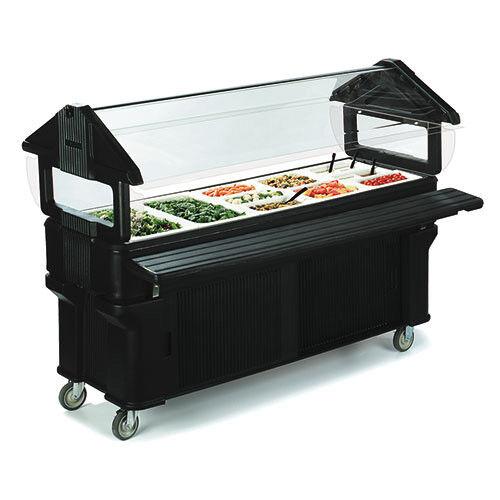 Carlisle Six-Star Portable Food Bar, Standard Height, Enclosed Base, Black