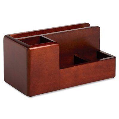 Rolodex Wood Tones Desktop Organizer - 4 Compartments - Wood - Rol1734648