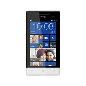 HTC Windows Phone 8s (Black & White)on o2 boxed with usb lead and back cover