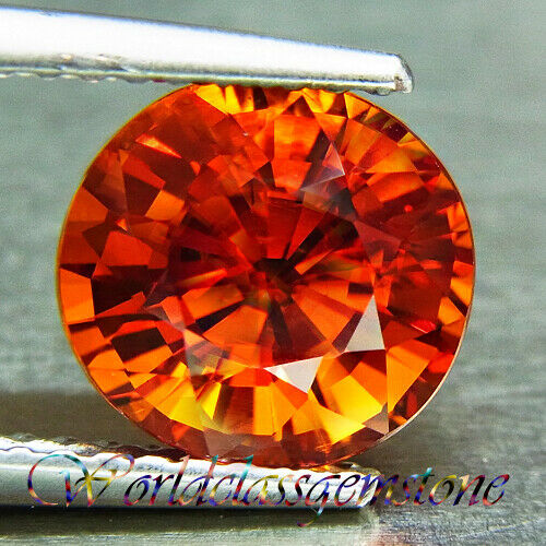 UNHEATED 3.11CT NATURAL ORANGE OVAL SPESSARTINE