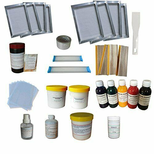 Screen Printing Simple Materials Kit Bundle Squeegee Ink Silk Screen Printing ..