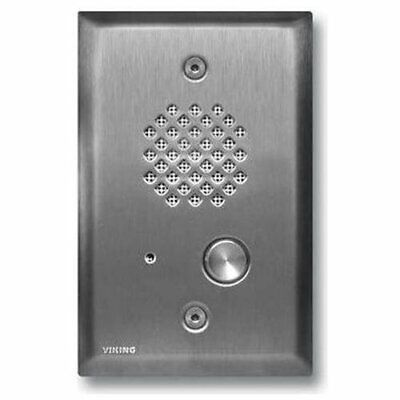 Viking Electronics Brushed Stainless Steel Entry Phone - Cable - Flush Mount,