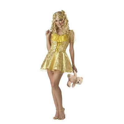 Halloween Costume Fairytale Goldilocks Deluxe Adult Woman L Large - Goldilocks Halloween