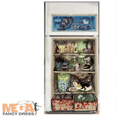 Halloween Fridge Door Cover Spooky Scary Realistic Party Accessory Decoration](Refrigerator Halloween Costume)