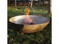 100cm Mild Steel Fire Pit Burner with Logs, Kindling and Eco firelighters