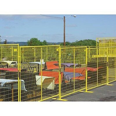 Perimeter Patrol Welded Wire Yellow Powder Coat Fence-76wx6h 12 Panel Kit