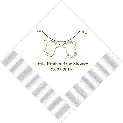 500 Baby Clothes Personalized Shower Cocktail Napkins](Baby Shower Cocktails)