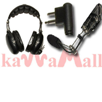 Noise Reduction Pilot Headset for Motorola GP300 Mic. Buy it now for 149.99