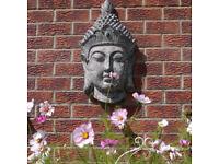 Wall Mounted Buddha Head Garden Feature Ornament