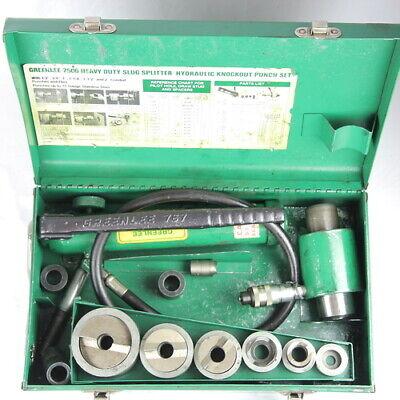 Greenlee 7506 Slug-splitter Self Centering Knockout Punch Kit With Hydraulic Ram
