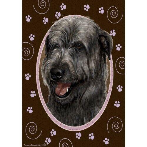Paws House Flag - Black Irish Wolfhound 18164