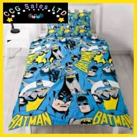 Official Batman Hero Reversible Single Duvet Bedding Set