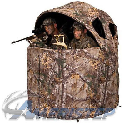 """Ameristep Deluxe Two Man Tent Chair Blind 61""""x60""""x52"""" Realtree Edge AMEBL2001"""