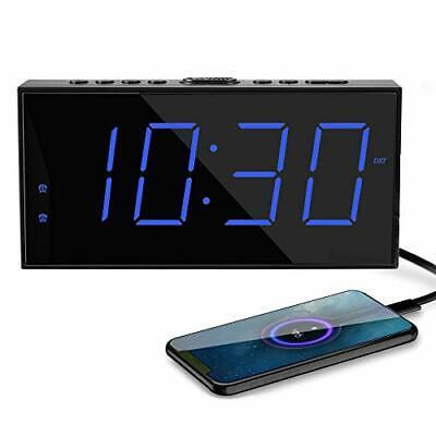 SmartSet Digital Alarm Clock Radio w/AM/FM,0.9 LED Large Display,Snooze