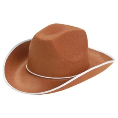 Brown Cowboy Adult Hat Western Costume Cowgirl Sheriff Woody Toy Story Gift](Toy Cowboy Hat)