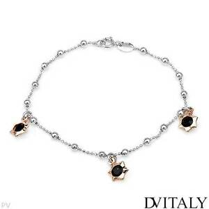 VERY NICE BRAND NEW MADE IN ITALY TWO TONE SILVER BRACELET