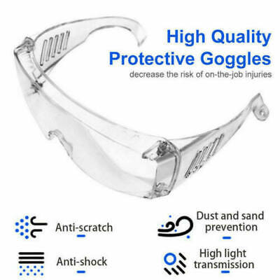 100 Clear Vented Safety Goggles Glasses For Work Lab Outdoor Eye Protection