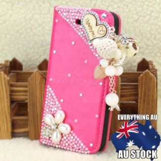 Pink Bling Diamanté Wallet Case Cover for Apple iPhone 5 5s  Kingsley Joondalup Area Preview