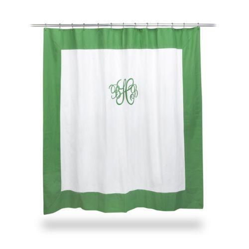 monogrammed shower curtain ebay