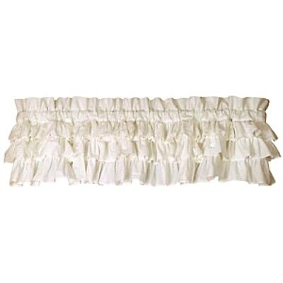 New Farmhouse Chic Shabby French Mother country WHITE RUFFLED Ruffles Curtain Valance