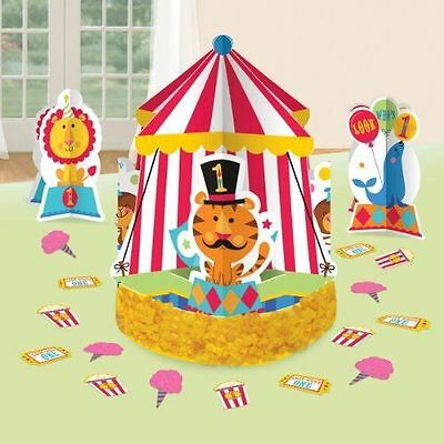 FISHER PRICE 1st Birthday CIRCUS TABLE DECORATING KIT (23pc) ~ Party Supplies - 1st Birthday Circus Party Supplies