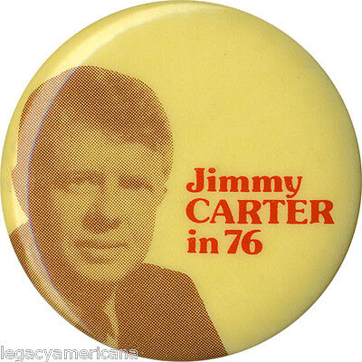 Vintage 1976 Jimmy CARTER in 76 Campaign Button (4988)
