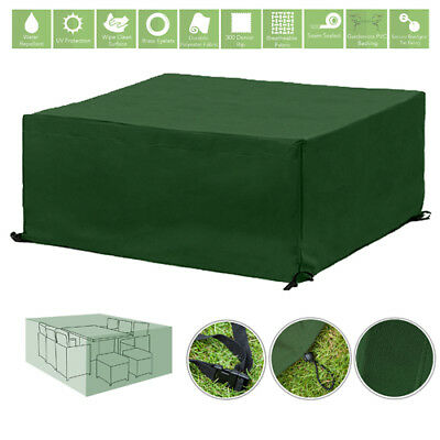 Green 10 Seater Cube Outdoor Waterproof Garden Patio Furniture Cover Protector