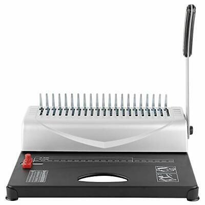 21-hole 450 Sheets Paper Comb Punch Binder Binding Machine Scrapbook New