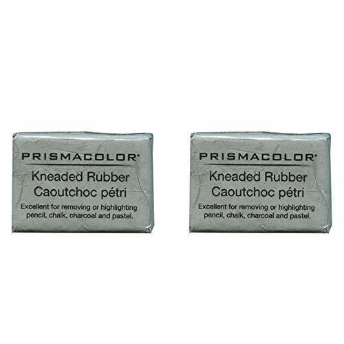 2 X PRISMACOLOR DESIGN Eraser, 1224 Kneaded Rubber Eraser Large, Grey (70531)