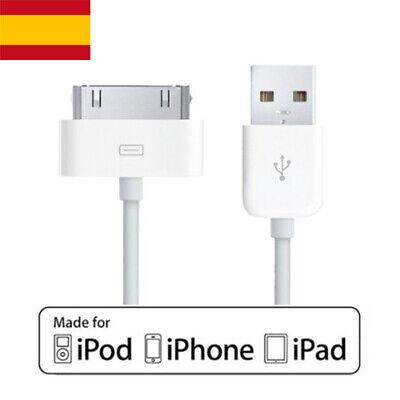 Cable Cargador USB 2.0 y datos Apple para telefonos iPhone, iPod, iPad
