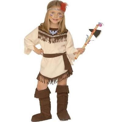 Kinder Western Kostüm (Kinder KOSTÜM INDIANERIN Gr.116 Cowboy Western Mädchen Fasching S4378)