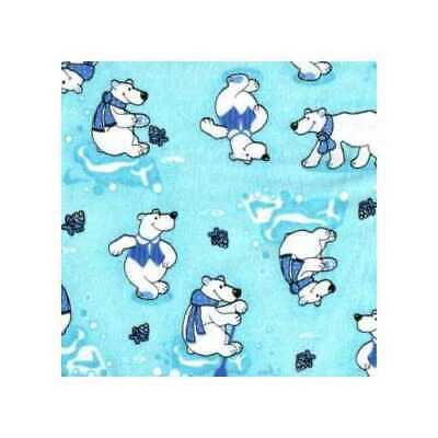 04769 Polar Bear Aqua - Flannel Fat -