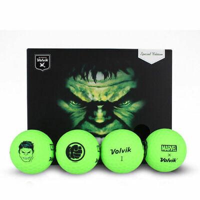 Volvik Golf Vivid XT Marvel Hulk 4 Balls + Ball Marker Limited Edition !!
