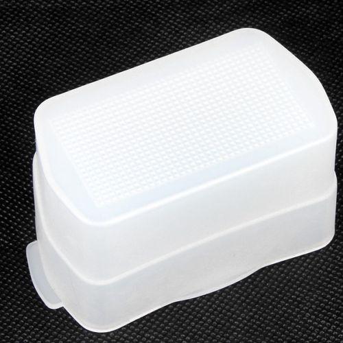 White Flash Bounce Diffuser Cover For Canon  Speedlight 430EX 430EX II