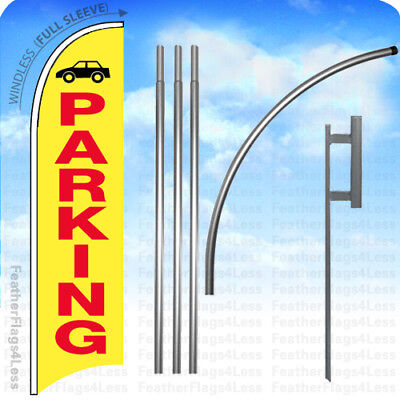 Parking - Windless Swooper Flag 15 Kit Feather Banner Sign - Yb