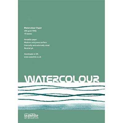 Seawhite Artists WaterColour Paper Pad A4 350gsm.15 sheets.