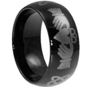 UNIQUE IRELAND CELTIC SHOP TUNGSTEN CARBIDE STERLING RINGS