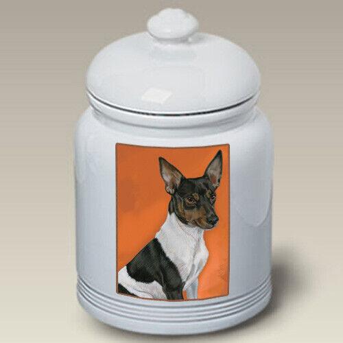Rat Terrier Ceramic Treat Jar PS 52130