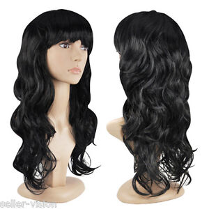Women's  Sexy Long Curly Fancy Dress Wigs Cosplay Costum