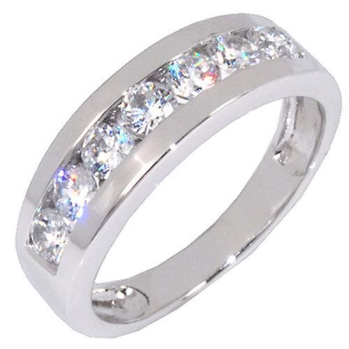 Sterling Silver Cubic Zirconia Rings Mens EBay