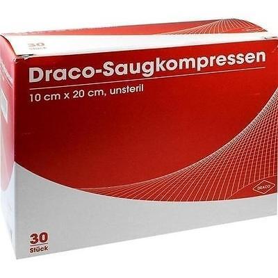 SAUGKOMPRESSEN unsteril 10x20cm Draco 30St Kompressen PZN 948785