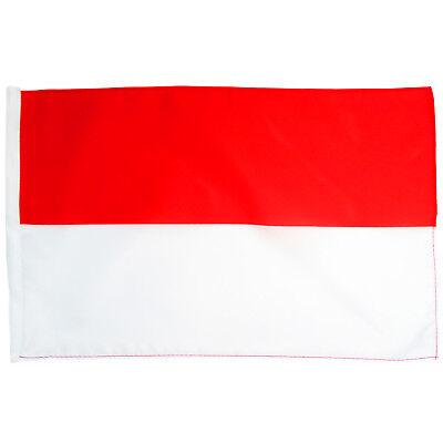 Flagge Schützenfest rot weiß Größe 30x45 cm Fahne Kirmes Querformat Stock