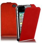 Red Leather Case for iPhone 4S