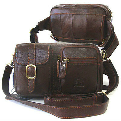 New Brown Casual Messenger Shoulder Bag Fanny Waist Pack Passport Bag Handbag