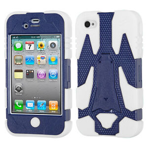 Natural Cyborg Hybrid Rugged Cases for Apple iPhone 4 4S